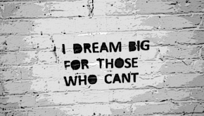 I dream big - encouraging children to dream big.